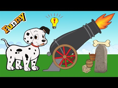 Funny Animals Cartoons for Children – Dog and Bone – Dogs Cartoons for Children