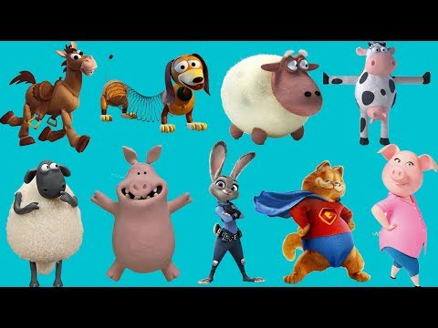Farm animals wrong | With Funny Cartoon Characters | Baby Learn Farm Animals Names and Sounds