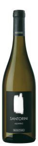 Santorini Boutari 2016 Assyrtiko white wine is grown on the Greek island of Santorini.