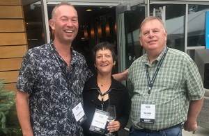 eft to right: Gilles Nicault, director of winemaking and viticulture, Long Shadows Vintners; Marie-Eve Gilla, head winemaker, Valdemar Estates; Mike Januik, private barrel auction host at Novelty Hill-Januik Winery and winemaker, Januik Winery. ©2018 L.M. Archer