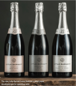 The new Lytle Barnett brand features a label paper designed just for sparkling wine.
