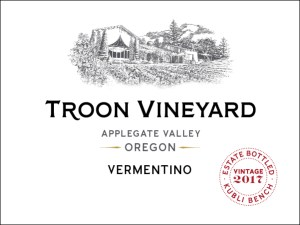 Troon Vineyard Vermentino is barrel fermented and aged for six months in mature oak.