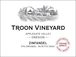 Troon Vineyard Zinfandel contains 3% Petite Sirah.