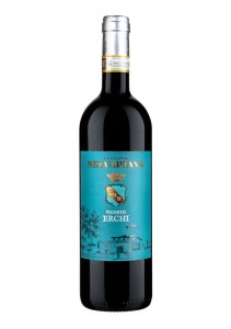 Selvapiana Vigneto Erchi Chianti Rufino DOCG is a vegan wine made from Sangiovese.