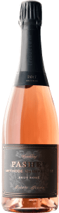 Pashey 2017 Sparkling Brut Rosé is produced from 60% Pinot Noir and 40% Chardonnay, and was disgorged Summer 2020