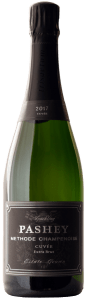 Pashey 2017 Sparkling Wine Estate Cuvée is produced from 55% Pinot Noir and 45% Chardonnay, and disgorged Summer 2020