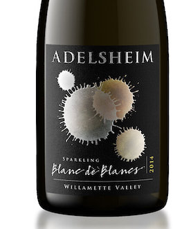 Adelsheim Blanc de Blancs Sparkling wine is made from 100% chardonnay.