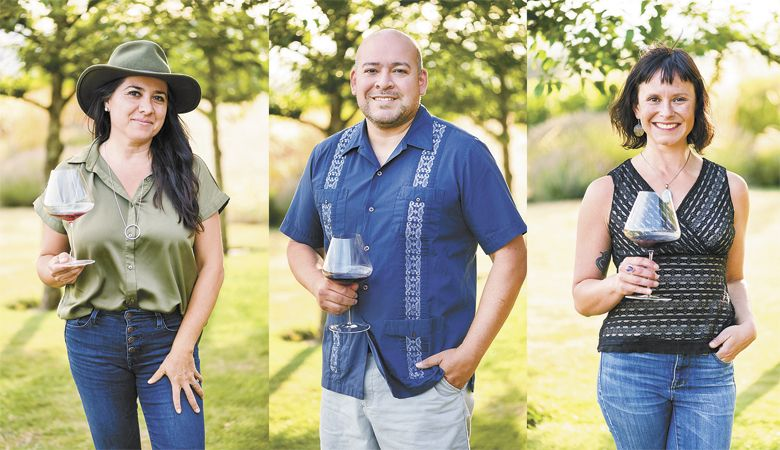 Oregon Wine Industry LatinX Leaders Sofia Torres-McKay, Sam Parra, and Cristina Gonzalez