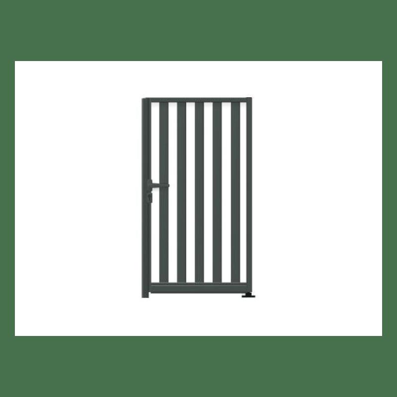 portillon alu a barreaux verticaux ajoure sur mesure lmc ouvertures