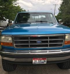 my son s first pickup 1995 ford f 150 we did a light cosmetic restoration with parts from lmc  [ 2048 x 1536 Pixel ]