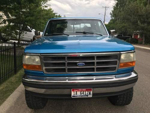small resolution of my son s first pickup 1995 ford f 150 we did a light cosmetic restoration with parts from lmc