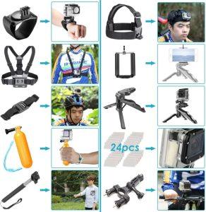 accessoires fixation GoPro