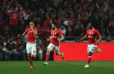 Thirty-third birthday boy Jonas celebrates after putting Benfica ahead from the penalty-spot. Image from: Getty