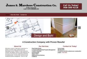 Web Design - James S. Marchese Construction