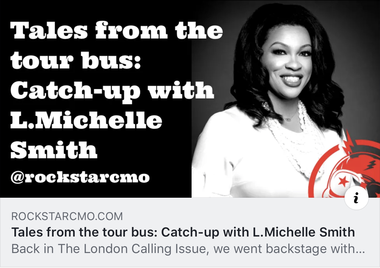Tales from the Tour Bus: Catch-up with L. Michelle Smith