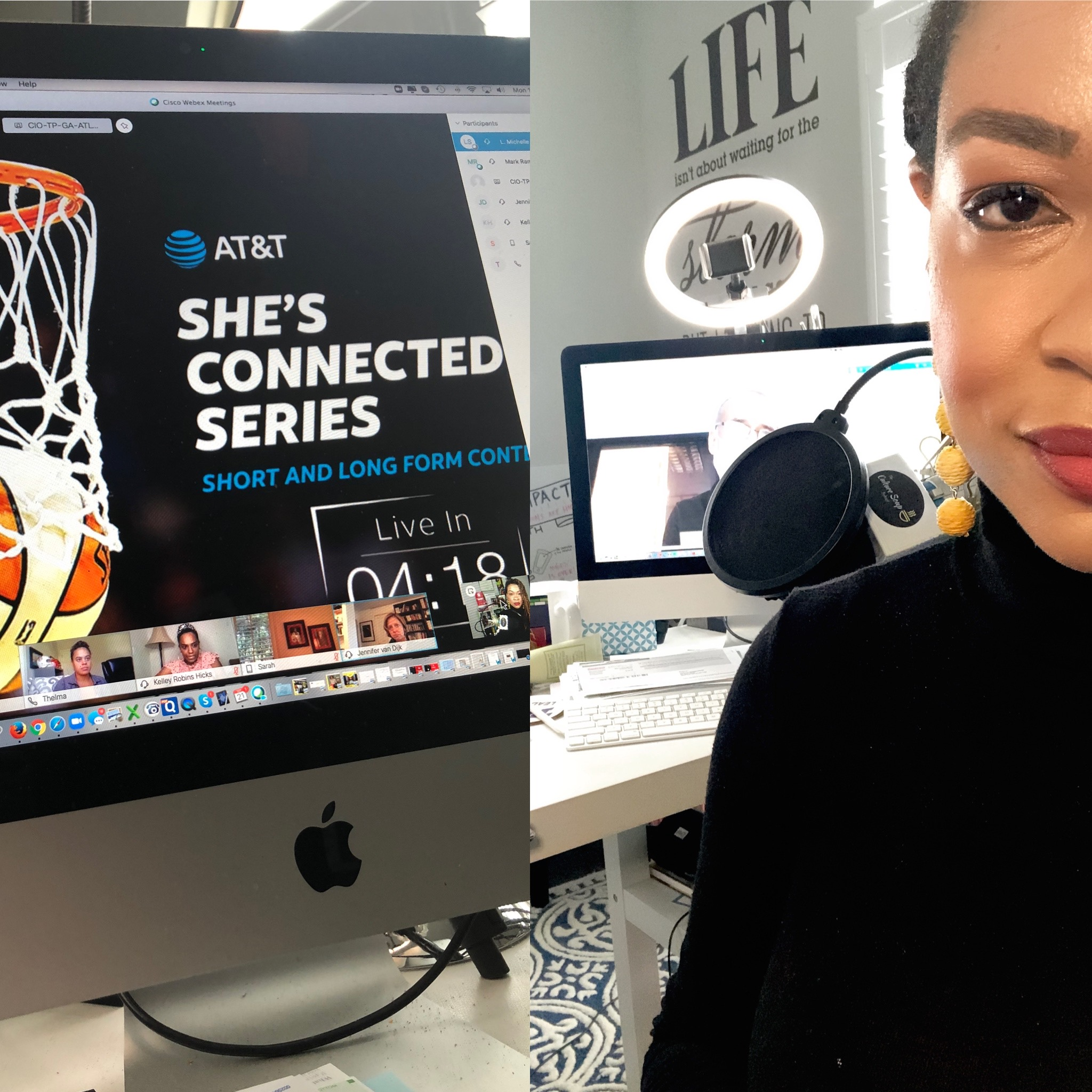 Game time!  AT&T + WNBA Changemakers: She's Connected highlights