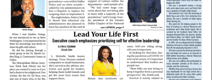 LMS on the Cover on Texas Metro News: Lead Your Life First