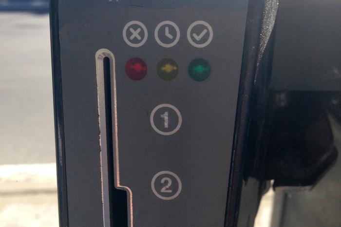 Closeup of indicator.