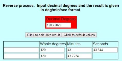 Decimal Degree to DMS