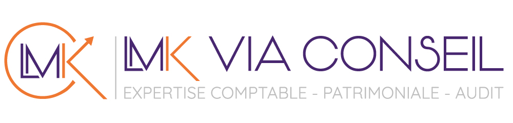 logo du cabinet d'expertise comptable de lucile kacel Benedetti - LMK VIA CONSEIL