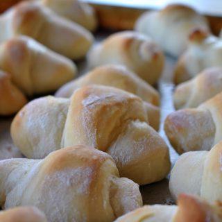 Sweet, fresh orange crescent rolls