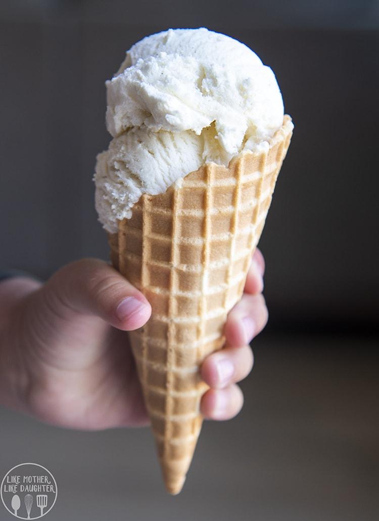 Vanilla Ice Cream Cone for the perfect summer treat