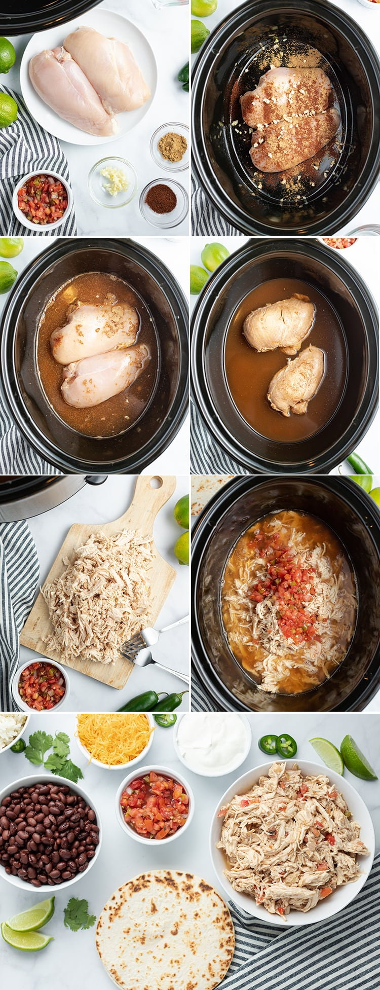 How to make crockpot chicken tacos