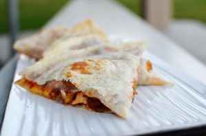 taking your quesadilla to the next level with bbq chicken and bacon