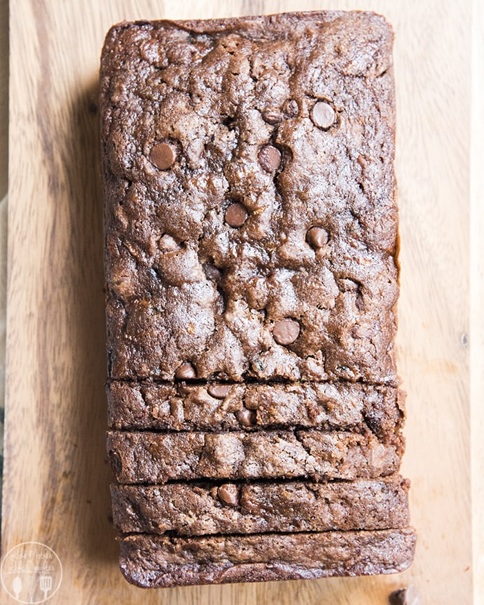 Chocolate Zucchini Bread with Chocolate Chips
