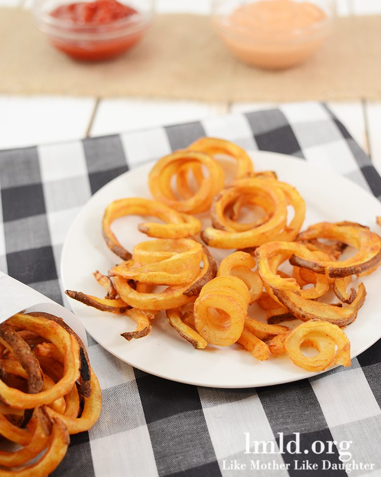 Oven Baked Curly Fries Like Mother Like Daughter