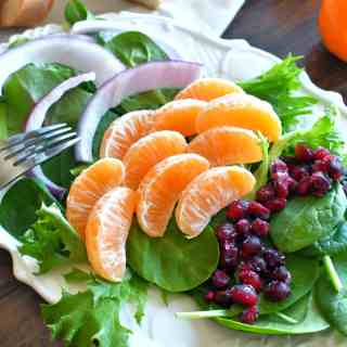 Fresh never tasted better with this simple and easy pomegranate citrus salad.