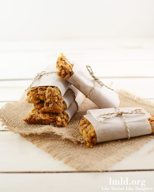 Peanut Butter and honey granola bars