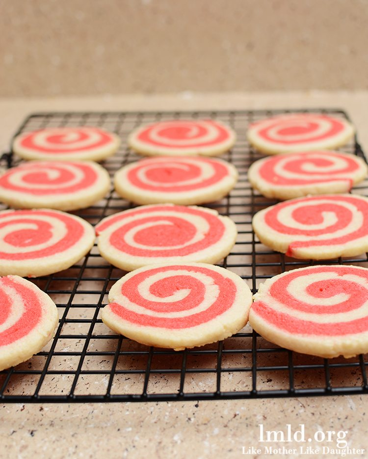 Valentine's Pinwheel Cookies - These delicious red and white pinwheel cookies are delicious frosted or unfrosted for a tasty holiday treat.
