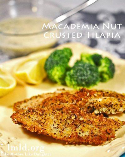 Macadamia Nut Crusted Tilapia
