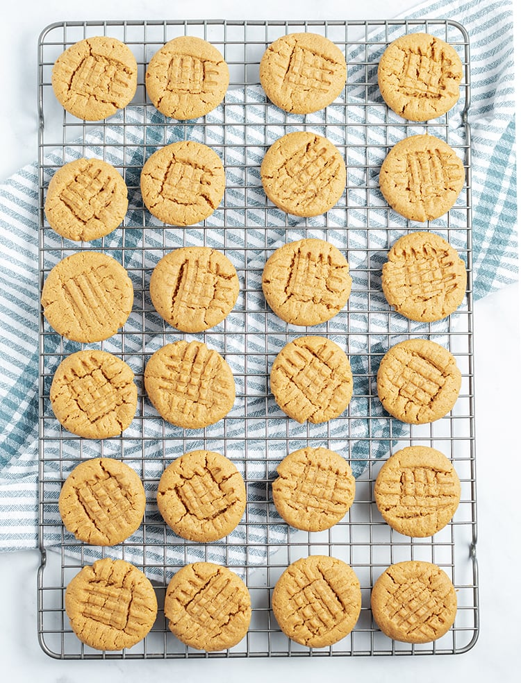 Flourless Peanut Butter Cookies are perfect with milk