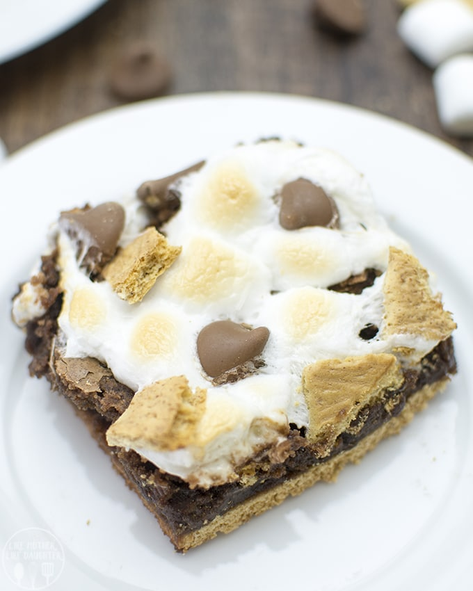 s'more brownie with brownie mix