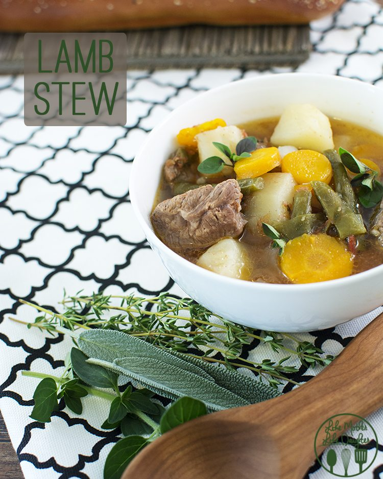 Lamb Stew - This lamb stew is full of lots of fresh vegetables and herbs and tender lamb meat for a heart warming, delicious meal, perfect for a cool fall day!