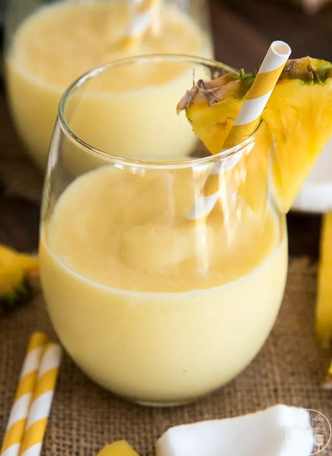 Piña colada smoothie recipe is a perfect refreshing combination of pineapple and coconut that you can enjoy all day long.