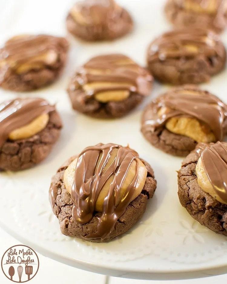 peanut butter brownie cookies4