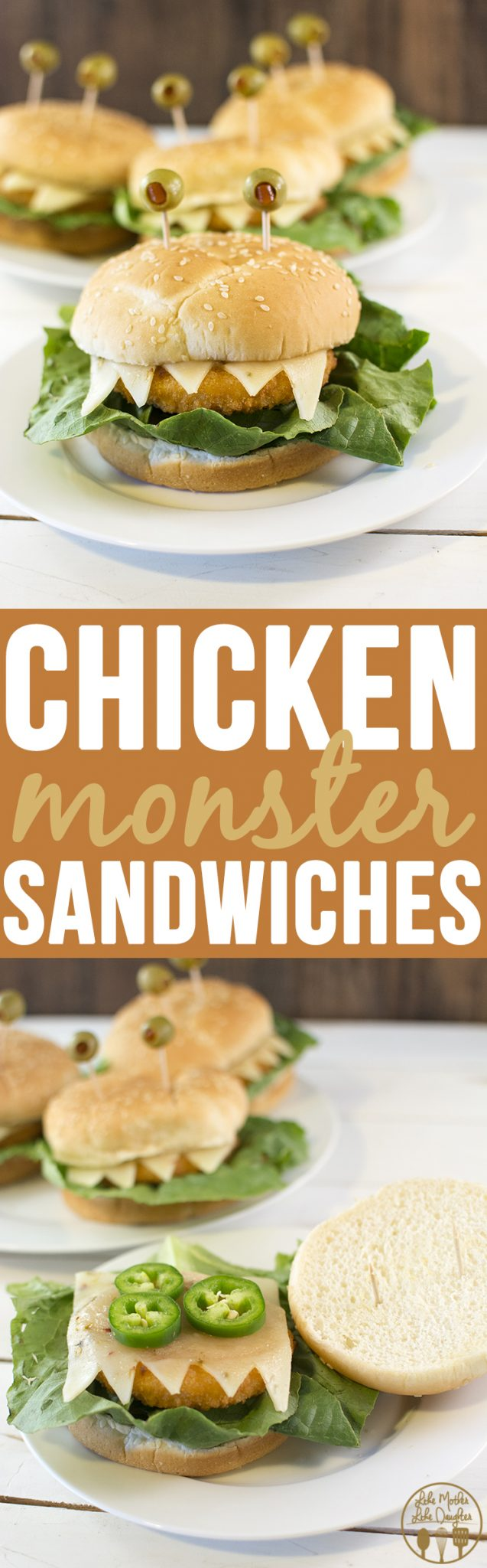 Chicken sandwich monsters - these adorable monster sandwiches are not only easy to make, they're fun to eat too!