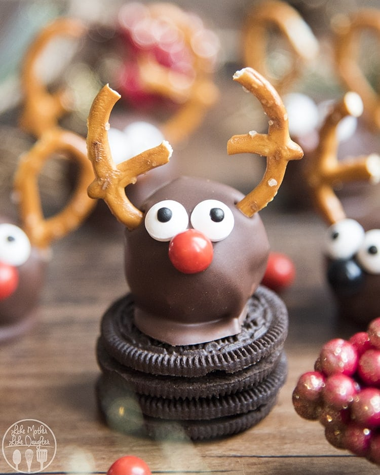 Reindeer Oreo Cookie Balls Like Mother Like Daughter