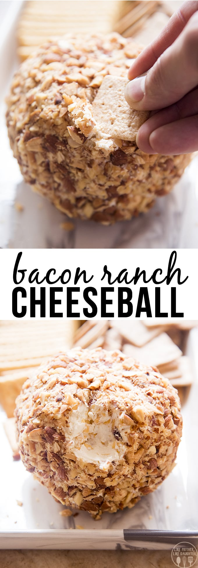 Bacon Ranch Cheese Ball is an amazing homemade cheese ball that is easy and delicious, it's a perfect crowd-pleaser, served with your favorite crackers!!
