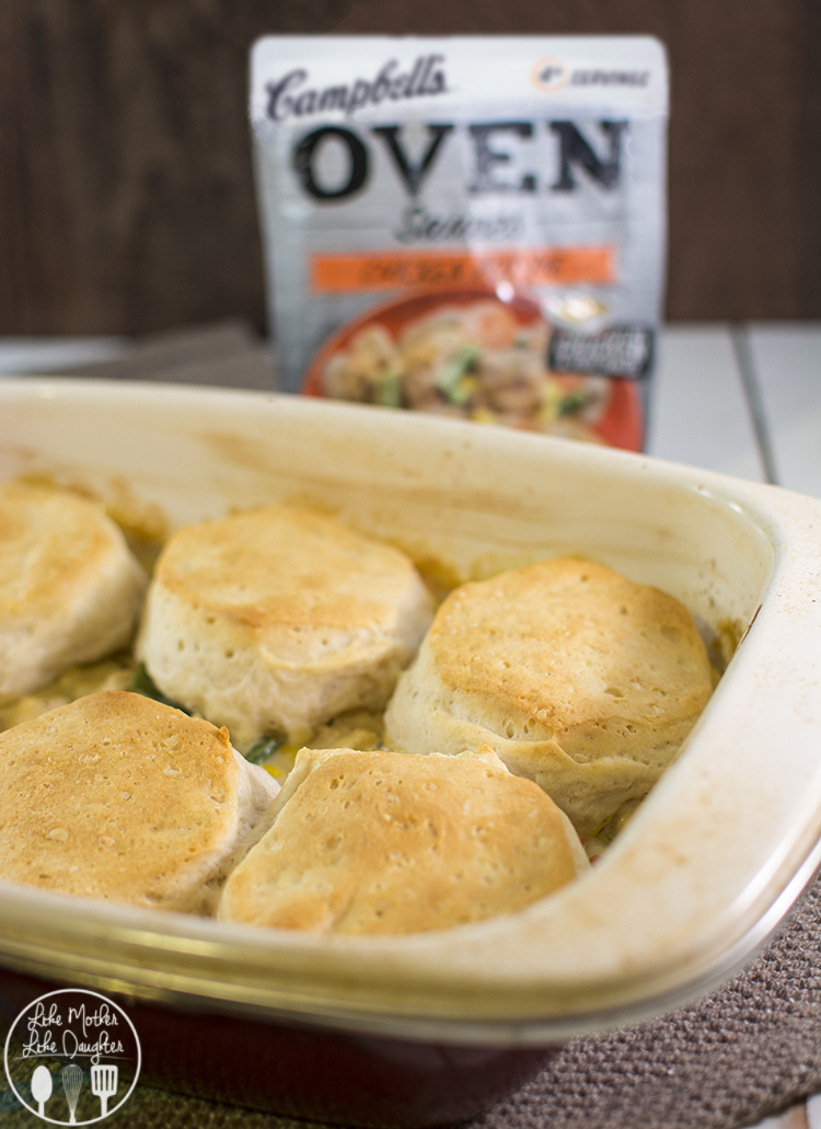 Biscuit Chicken Pot Pie - enjoy the delicious flavors of chicken pot pie at home in only 45 minutes for the perfect comfort meal your whole family will love!