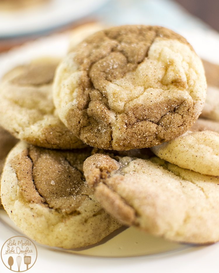 Gingerdoodle Cookies - These gingerdoodle cookies combine two delicious cookie doughs, snickerdoodle and chewy gingersnap, for an even better cookie that has the perfect cinnamon, molasses, sugary flavor.