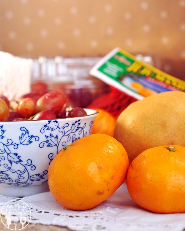 Korean Pears, Christmas Crunch grapes, and JeJu Mandarins from Melissa Produce all come together to make a delicious breakfast pear cake