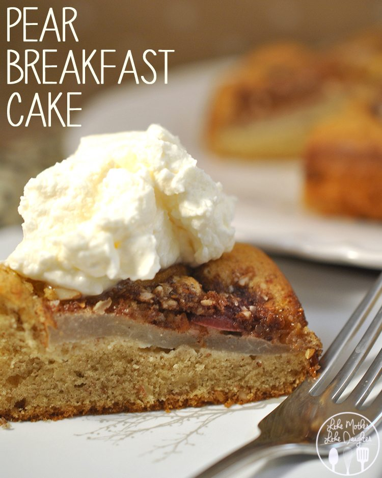 Korean Pears, Christmas Crunch grapes, and JeJu Mandarins from Melissa Produce all come together to make a delicious breakfast pear cak