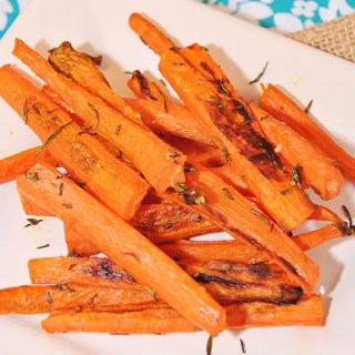 Fresh herbs added to these roasted carrots add to their goodness. So sweet and yummy.