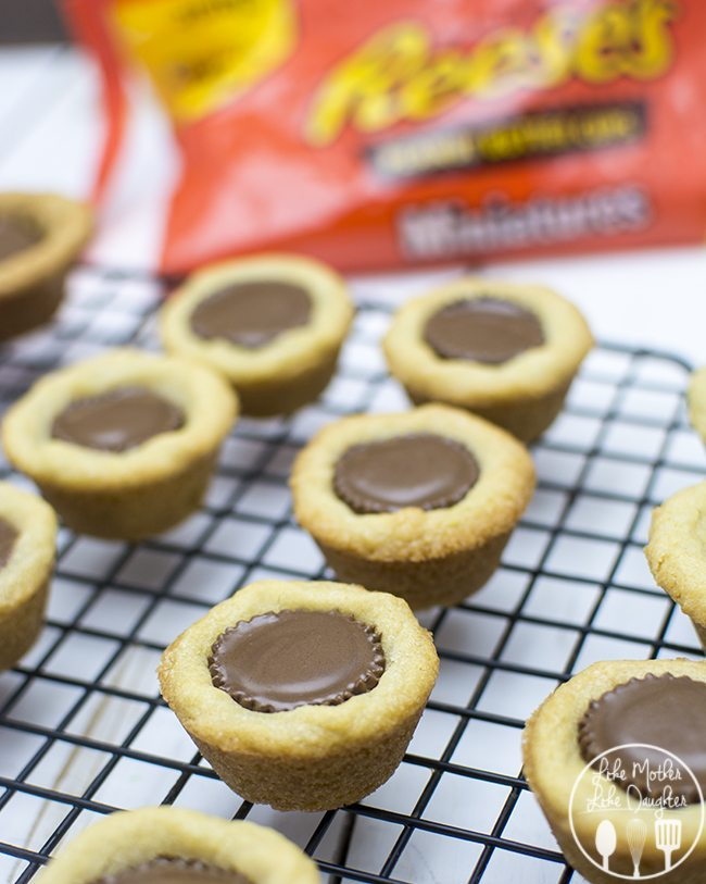 REESE's Peanut Butter Cookie Cups - These simple two ingredient cookie cups can be made in just a few minutes for the perfect snackable treat!