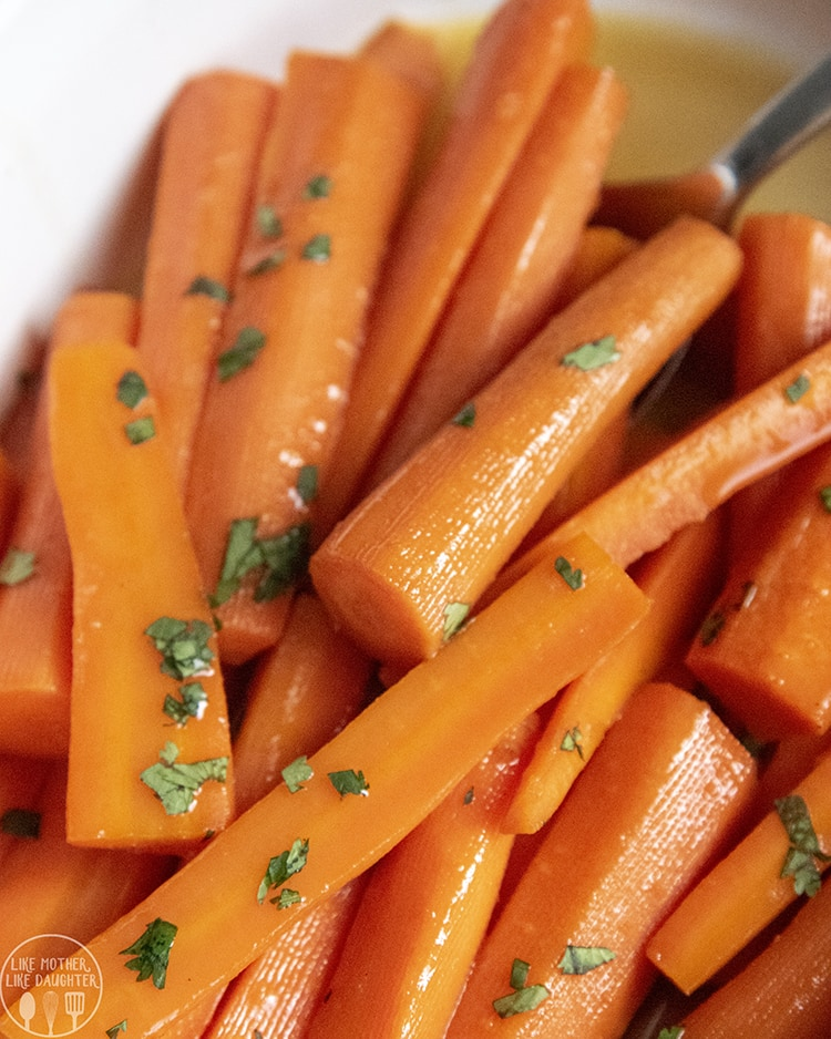 Brown Sugar Glazed Carrots are the perfect side dish