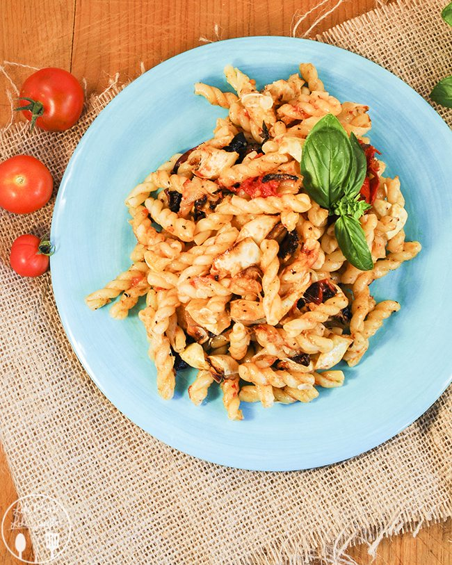 Pasta with roasted summer vegetables and fresh Parmesan cheese for a flavor bursting meal that will make you want to eat your vegetables.